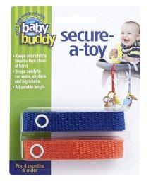 Baby Buddy/Baby Buddy ベビーバディ おもちゃストラップ2色各1本組 ロイヤルブルー/オレンジ/502677581