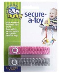 Baby Buddy/Baby Buddy ベビーバディ おもちゃストラップ2色各1本組 ピンク/グレー/502677588