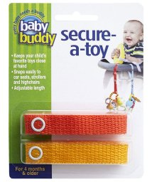 Baby Buddy/Baby Buddy ベビーバディ おもちゃストラップ2色各1本組 オレンジ/マンゴー/502677589