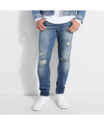 GUESS/ゲス GUESS DISTRESSED SLIM TAPERED DENIM PANT (VIVID AGED WASH W/ DESTROY)/502681342