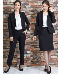 m.f.editorial/高機能ポリエステル 1釦ジャケット+スカート+スラックス ストライプ紺/502518322