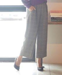 SHOO・LA・RUE DRESKIP/ベルト付センタープレスワイドパンツ/502682304
