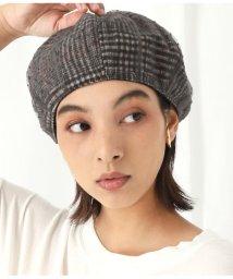 Alluge/ドットチュールカバーチェックベレー帽/502682385