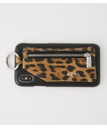 AZUL by moussy/LEOPARD ZIP PHONE CASE/502682576