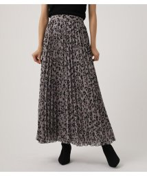 AZUL by moussy/LEOPARD PLEATS FLARED SKIRT/502682588