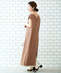 le.coeur blanc OUTLET/バックヘンリーワッフルワンピース/502686187