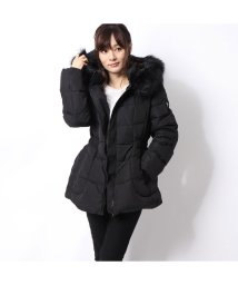 GUESS/ゲス GUESS FUR HOODED DOWN JACKET (BLACK)/502686800