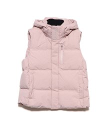 GUESS/ゲス GUESS HOODED DOWN VEST (LIGHT PINK)/502686804