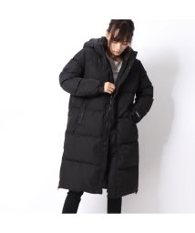 GUESS/ゲス GUESS HOODED LONG DOWN JACKET (BLACK)/502686807