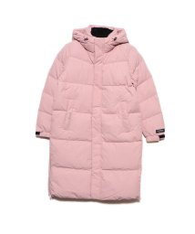 GUESS/ゲス GUESS HOODED LONG DOWN JACKET (LIGHT PINK)/502686809