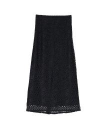 ur's/ユアーズ ur's レースセミタイトスカート (ブラック)/502687024