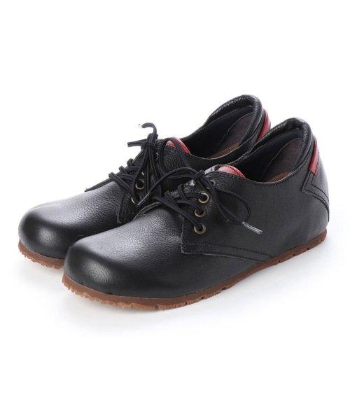 yuriko matsumoto(ユリコ マツモト)/ユリコ マツモト yuriko matsumoto マニッシュ シンプル コンフォート 本革 日本製 ゴムヒモ靴 (BL])/YU4966BW00280