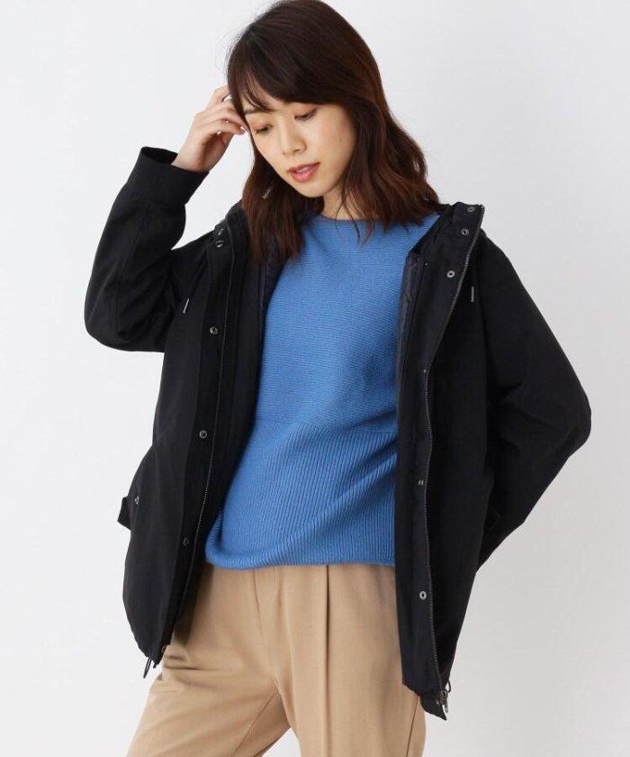 【M−3L/撥水】中綿キルトジャケット付き3WAYマウンテンパーカー