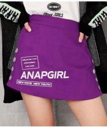 ANAP GiRL/サイドボタンロゴスカパン/502637044