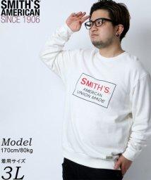 MARUKAWA/【SMITH'S AMERICAN】スミスアメリカン 大きいサイズ 胸ロゴプリント 裏毛 トレーナー/502647269