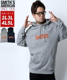 MARUKAWA/【SMITH'S AMERICAN】スミスアメリカン 大きいサイズ 胸ロゴ刺繍 裏毛 パーカー/502647270