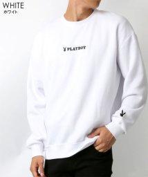 MARUKAWA/【PLAYBOY】プレイボーイ ビッグシルエット ミニロゴ刺繍 裏起毛 トレーナー/502647558