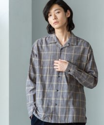 coen/ブリティッシュチェックオープンカラーシャツ/502675820