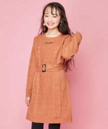 JENNI love/ハートケーブルニットワンピ/502686316