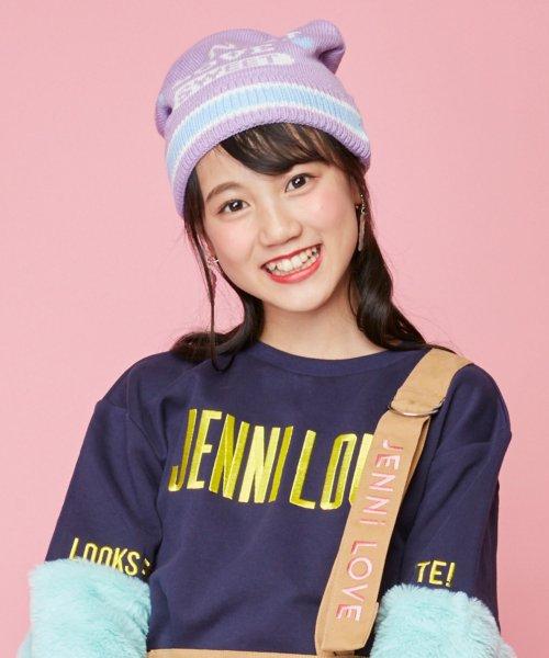 JENNI love(ジェニィラブ)/パステルラインニットキャップ/02296501