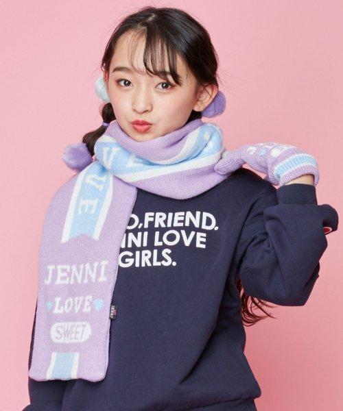 JENNI love(ジェニィラブ)/パステルラインマフラー/02296502