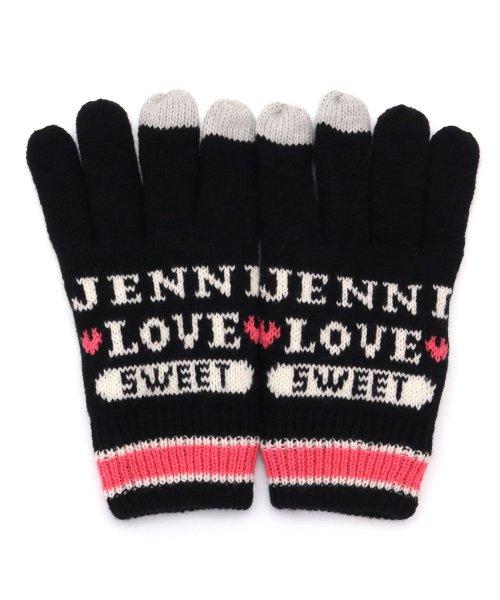 JENNI love(ジェニィラブ)/パステルラインスマホ対応手袋/02296503