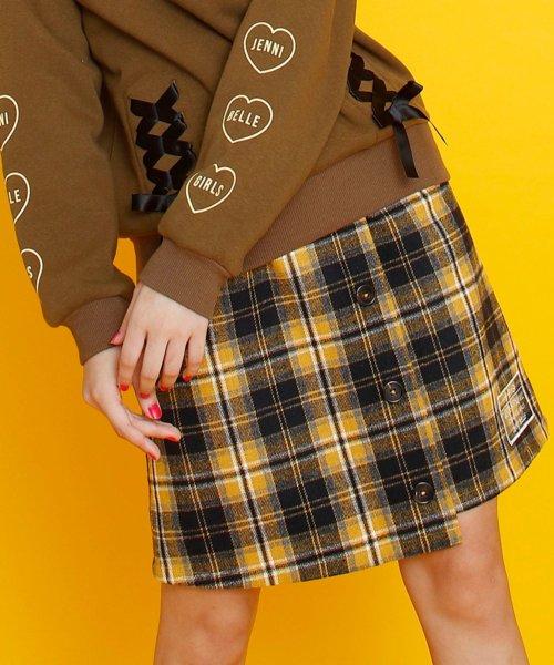 JENNI belle(ジェニィベル)/チェック前ボタンスカート/02396306