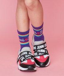 JENNI love/レインボーラインリブクルーソックス/502687489