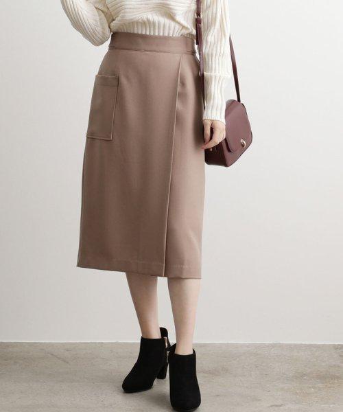 ViS(ビス)/【EASY CARE】ウォッシャブルフラノラップタイトスカート/BVC39280
