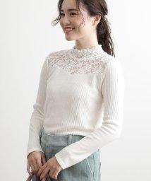 ViS/衿シャーリングレース切替テレコプルオーバー/502687879