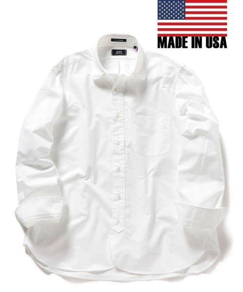 SHIPS MEN(シップス メン)/SHIPS×IKE BEHAR: アメリカ製 オックスフォード ラウンドカラー シャツ/111135566