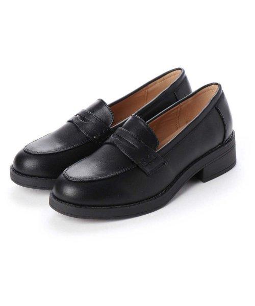 AAA PLUS feminine(サンエープラスフェミニン)/SFW サンエープラスフェミニン AAA? feminine おじ靴'マニッシュコインローファー/3571 (ブラック)/AA2911BW00042