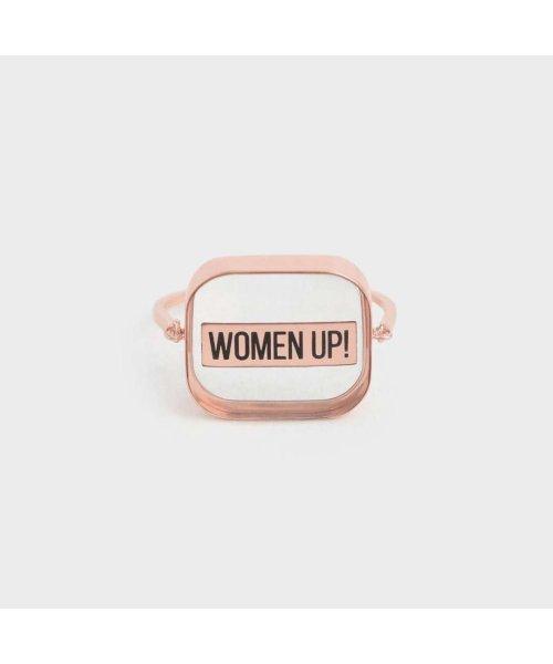 CHARLES & KEITH(チャールズ アンド キース)/【2019 WINTER 新作】WOMEN UP! アクリルリング / WOMEN UP! Acrylic Ring (Rose Gold)/CH1328DW13561