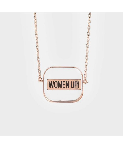 CHARLES & KEITH(チャールズ アンド キース)/【2019 WINTER 新作】WOMEN UP!  アクリルネックレス / WOMEN UP! Acrylic Necklace (Rose Gold)/CH1328DW13563