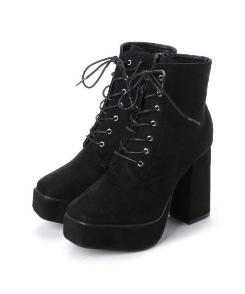 Mafmof(マフモフ)/マフモフ Mafmof Mafmof(マフモフ) BLACKスクエアトゥのショートブーツ (ブラック・スエード)/M05299BW02530