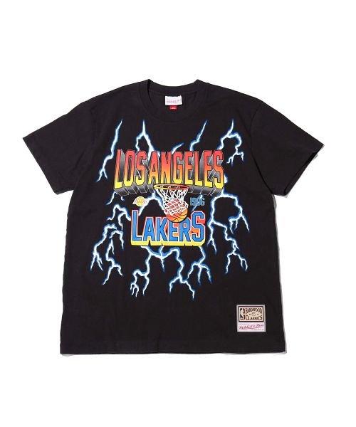 Mitchell&Ness(Mitchell&Ness)/ミッチェルアンドネス ライトニング Tシャツ/ロサンゼルス レイカーズ/ssteef18012-lal