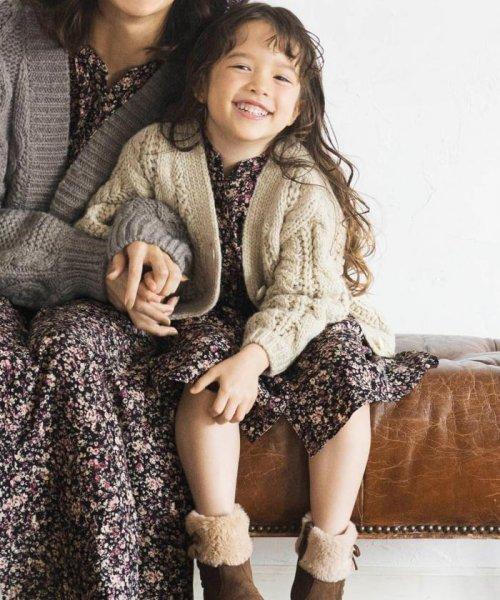 anyFAM(KIDS)(エニファム(キッズ))/【親子連動/140~150cm】ニットカーディガン/KRFSKW0424