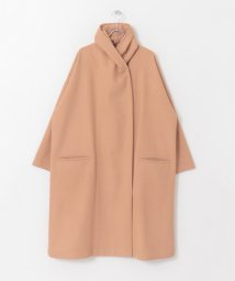 KAGURE/Honnete Shawl Collar Wide Coat/502689637