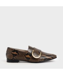 CHARLES & KEITH/【2019 WINTER 新作】レザーメタルアクセント ローファー / Leather Metal Accent Loafers (Multi)/502689656