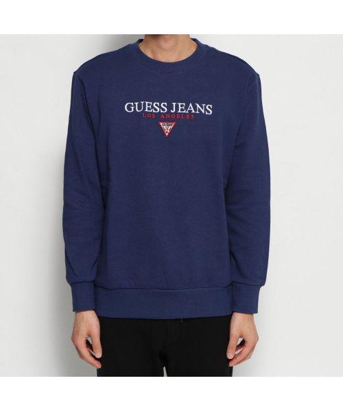 GUESS(ゲス)/ゲス GUESS GUESS JEANS LOGO CREW SWEAT (BLUE)/GU1432EM16893
