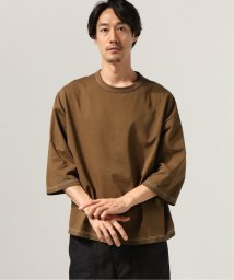 J.S Homestead/COFFEE DYED WIDE SILHOUETTE-7ブソデ カットソー/502689862