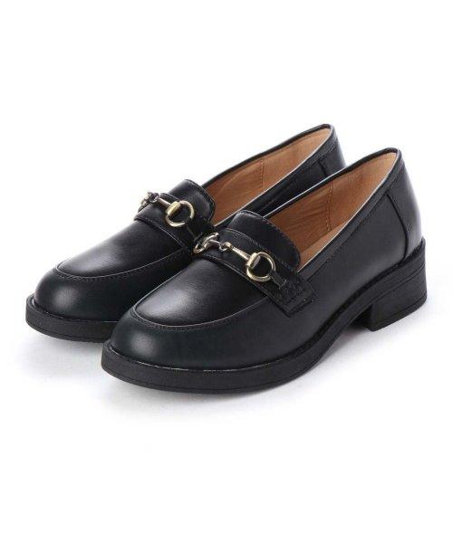 AAA PLUS feminine(サンエープラスフェミニン)/SFW サンエープラスフェミニン AAA? feminine おじ靴'マニッシュビットローファー/3572 (ブラック)/AA2911BW00044