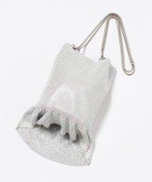 KUMIKYOKU/【WEB限定】メタルメッシュフリル巾着 バッグ/502690784