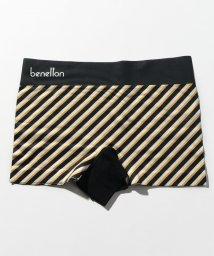 BENETTON (mens)/メンズストライプ柄ロゴボクサーパンツ/502668604