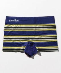 BENETTON (mens)/メンズボーダー柄ロゴボクサーパンツ/502668605