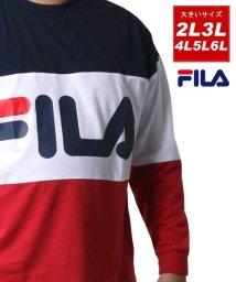 MARUKAWA/【FILA】フィラ 大きいサイズ ロゴ 切り替え 長袖Tシャツ 春/502626067