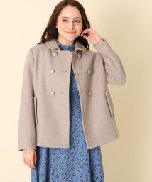 Couture Brooch/メルトンダブルショートコート/502691289