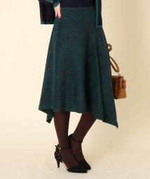 Couture Brooch/【WEB限定サイズ(LL)あり/手洗い可】イレギュラーヘムシャギーチェックスカート/502691293