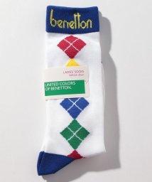 BENETTON (women)/レディースアーガイル柄ロングソックス・靴下/502675831