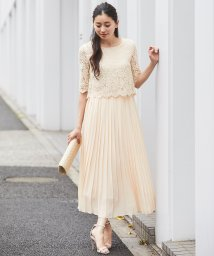 SMILE ORCHID/レースプリーツワンピースドレス/502688358